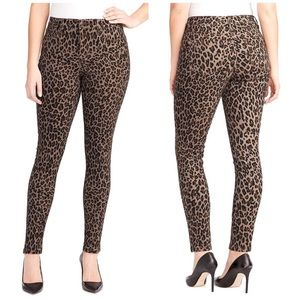 NINE WEST Gramercy animal print skinny jeans 12